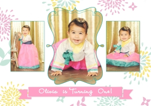 First birthday kids photographer bel air sweet oliva turns one korean themed birthday invitation back2 filmwisefo Choice Image