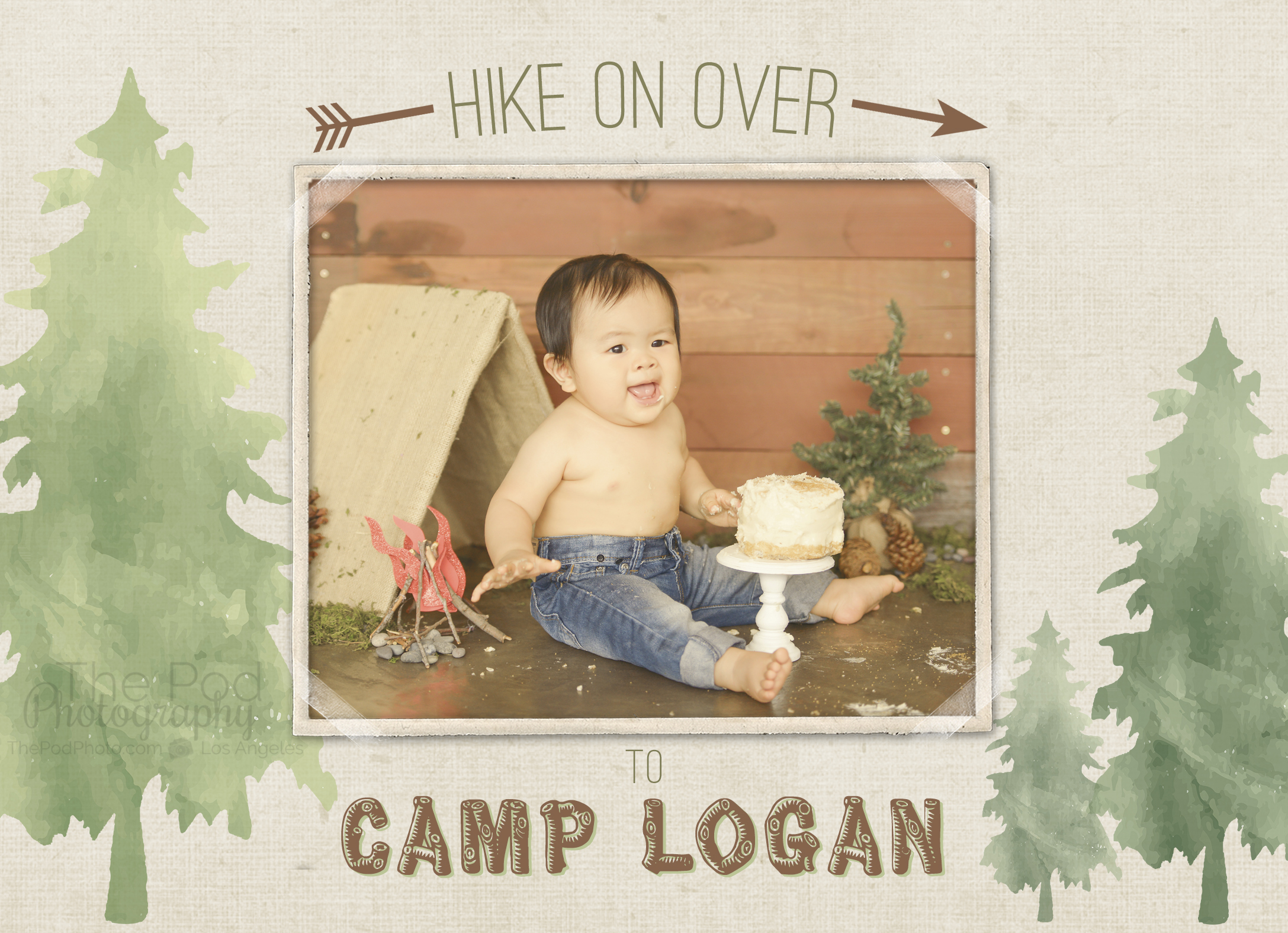 First-Birthday-Party-Invitation-Custom-Design-Camping-Theme